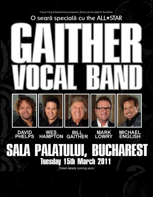 Biletele pentru concertul Gaither din București se vor putea cumpăra începând de vineri 7 ianuarie