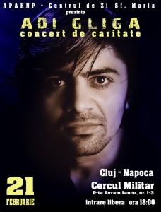Concert de caritate – Adi Gliga la Cluj