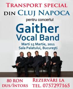 Transport special din Cluj Napoca pentru concertul Gaither Vocal Band