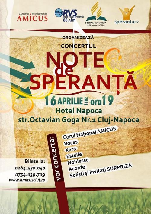 Concert: Note de Speranţă