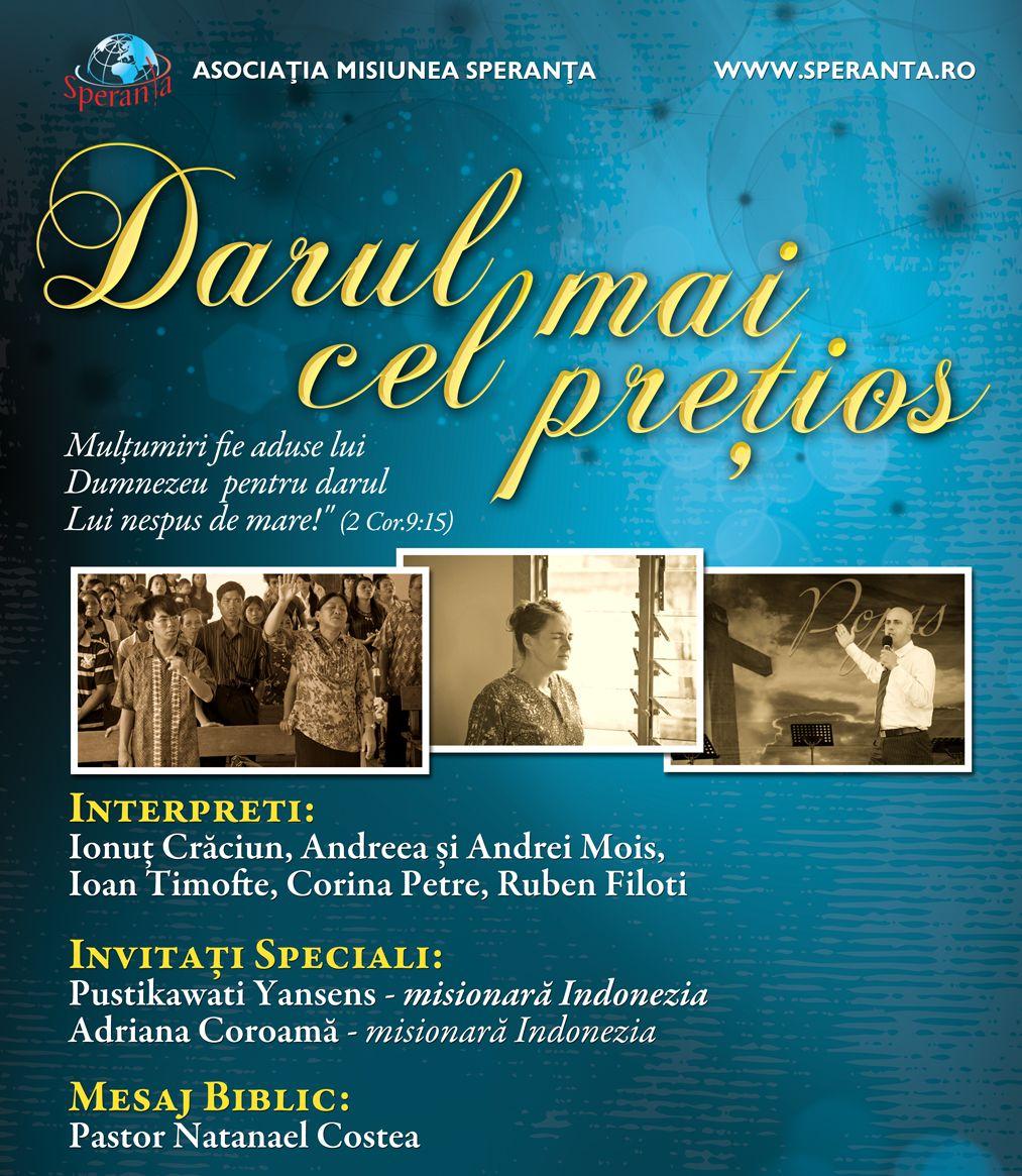"Turneu Evanghelistic Speranța 2012 – ""Darul cel mai prețios"""