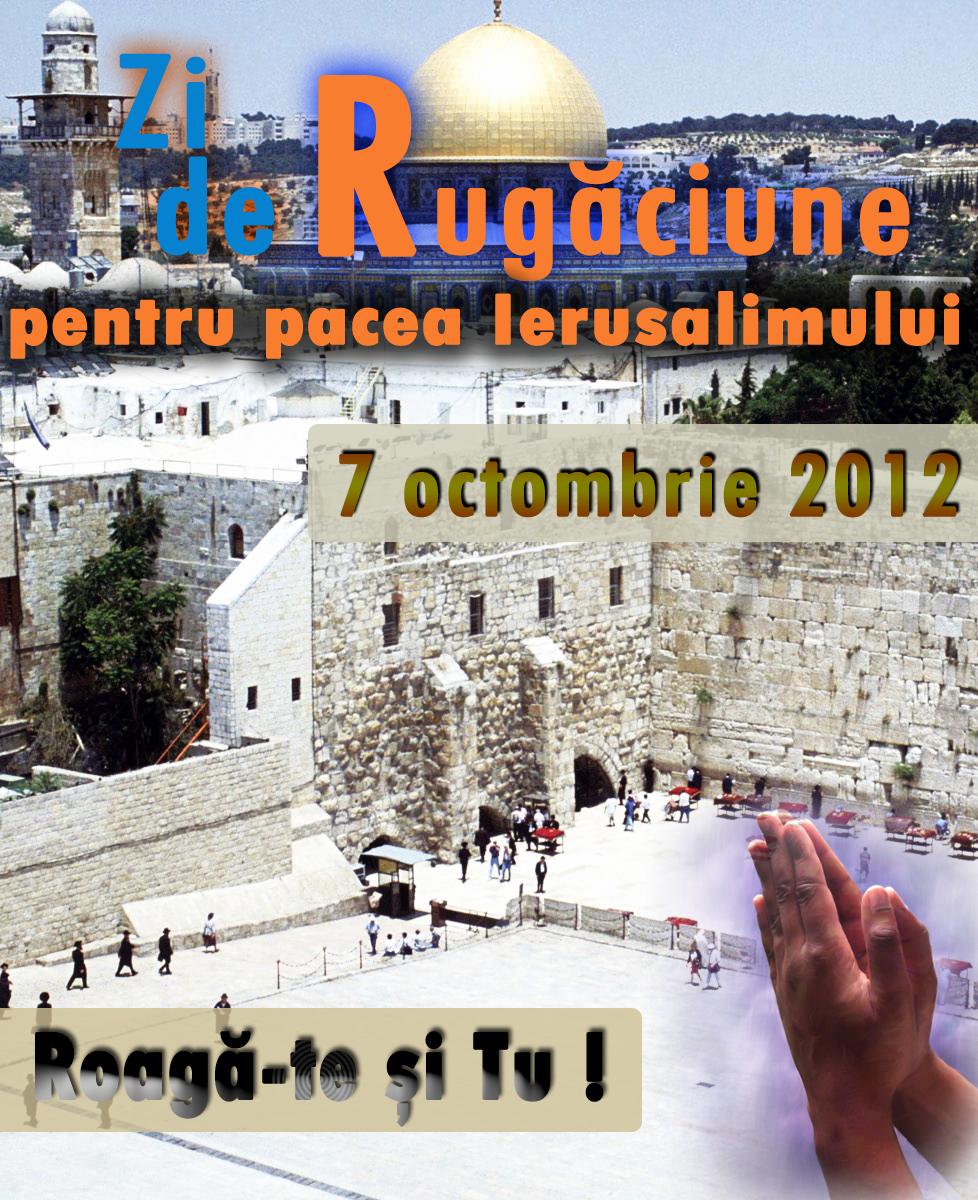 Ziua de Rugăciune pentru Pacea Ierusalimului, 7 octombrie 2012