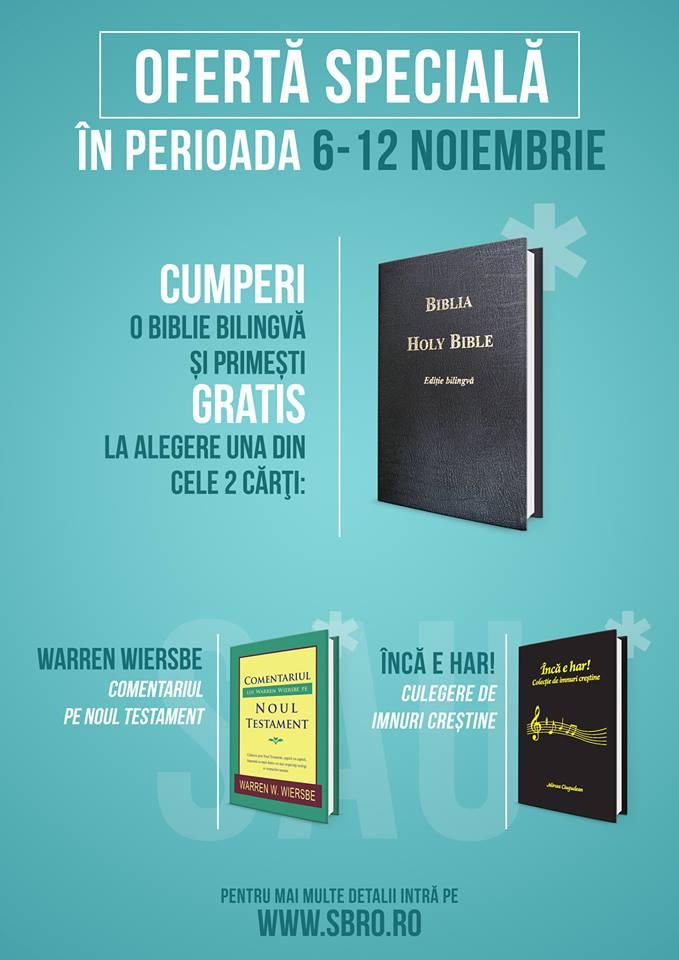 Ofertă de reducere la Societatea Biblică din România