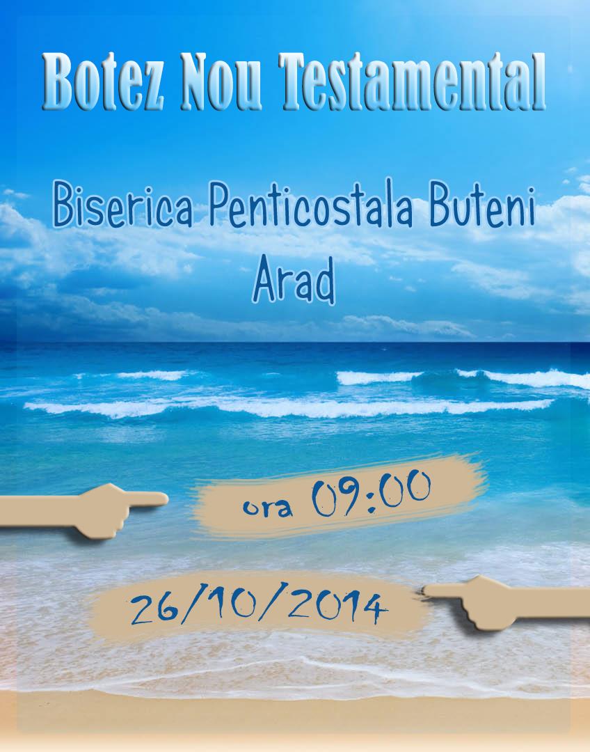 Botez Nou Testamental la Biserica Penticostală din Buteni, Arad
