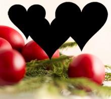 Ouă roşii, cu inimi negre