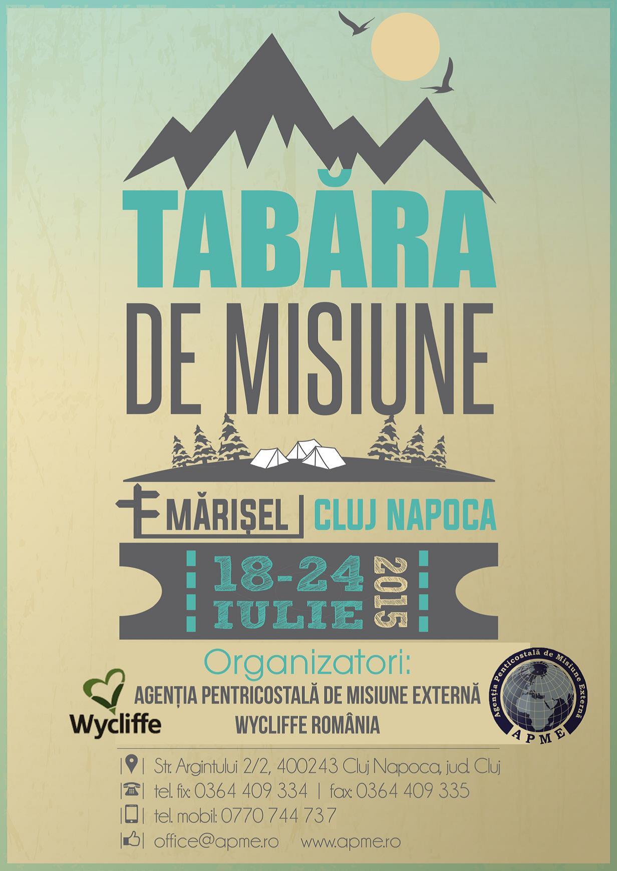Tabără de misiune 2015 la Mărișel, Cluj