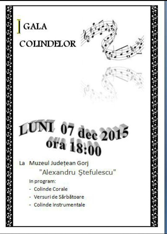 Gala Colindelor la Muzeul Judeţean Gorj, Tg-Jiu