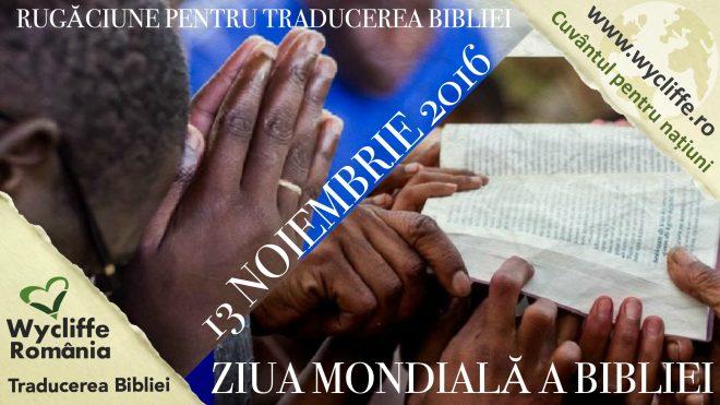 Ziua mondială a Bibliei – Wycliffe România