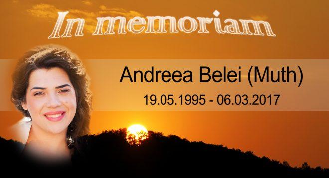 În memoriam – Andreea Belei (Muth)